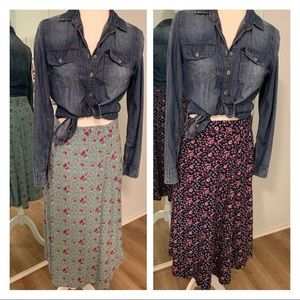 Gap floral skirts - Lot of 2